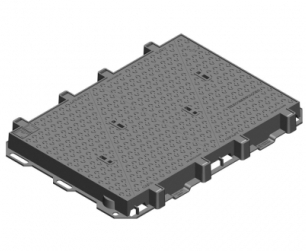 Rectangular Hinged Cover - NR2 Type - D400